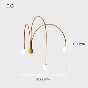 Italian Led Iron Wall Lamps Modern Living Room Bedroom Wall Light Branch Glass Bedside Lighting Home Decor Wall Sconce Luminaria