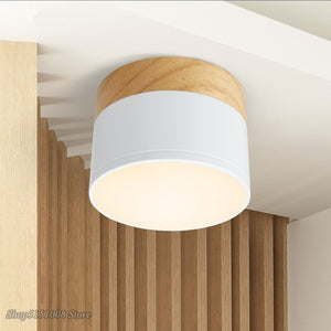 LED Ceiling Lights Solid Wood Spot Lights Dome Light Japanese Porch Ceiling Lamp For Living Room Corridor Corridor