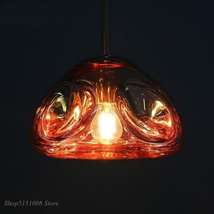 LED Lava Modern Pendant Lights Melt Glass Led Hanging Lamp Industrial Luminaire Dining Room Kitchen Home Decor Fixtures