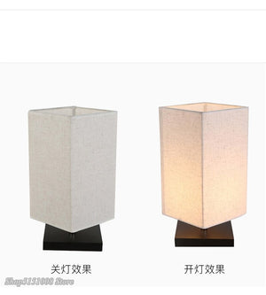 LED Wood Table Lamp Cloth Lampshade Desk Lamp Reading Lamp Nigh Tlight For Bedroom Bedside Study Room Lighting Fixtures