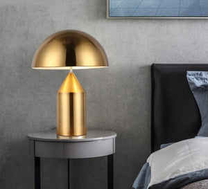 Milan Modern Mushroom Gold Table Lamps Bedroom Bedside Iron Lamp Led Stand Desk Light Luminaire Reading Headlamp Fixtures
