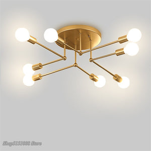 Modern Ceiling Light GoldwhiteBlack Iron Ceiling Mounted Lamps Living Room Dinning Office Single Head Light Home Decor Fixture