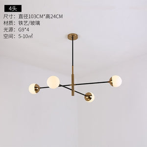 Modern Chandelier Nordic Minimalist Creative LED Hanging Lights Bedroom Restaurant Molecular Magic Bean Hanging Lamps Fixtures