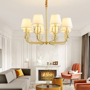 Modern Copper Chandelier Lighting Living Room Nordic Chandeliers Hanging Dining Kitchen Fixture Lamp Bedroom Lustre