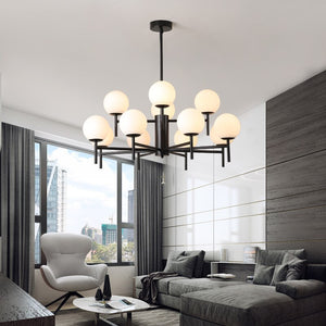 Modern Glass Ball Chandeliers Led Indoor Hanging Lamps Living Room Kitchen Dining Bedroom Suspension Lighting Luxury Lights