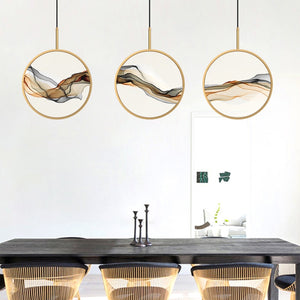 Modern GoldBlack Pendant Lights Indoor Balcony Loft Bedroom Home Hanging Lighting Kitchen Parlor Art LED Pendant Lamps