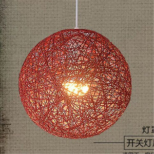 Modern Hemp Pendant Lights Nordic Rattan Art Restaurant Bar Pendant Lamp Living Room Kitchen Fixtures Home Hang Lamp Luminaire