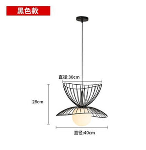Modern Iron Straw Hat Pendant Lights Nordic Skirts Pendant Lamp Kitchen Hanging Lamp Luminaire Industrial Decor Lighting Fixture