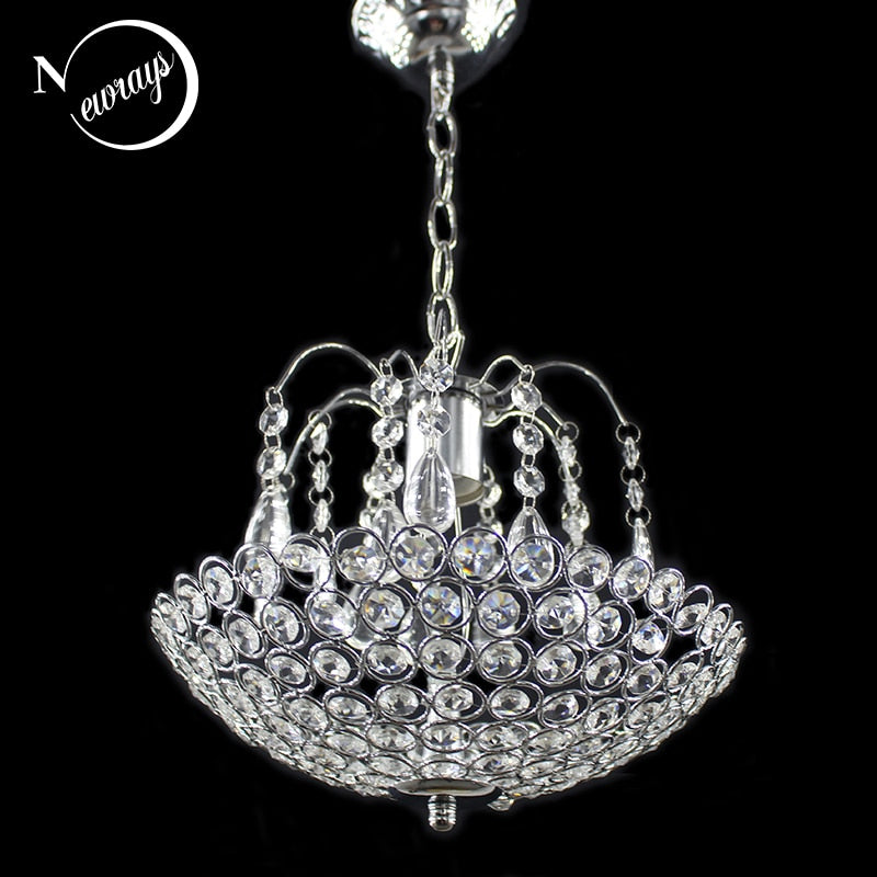 Modern Iron Crystal Style Chandeliers E27 Retro Luster Chandelier Vintage LED Lighting For Living Room Kitchen Bedroom