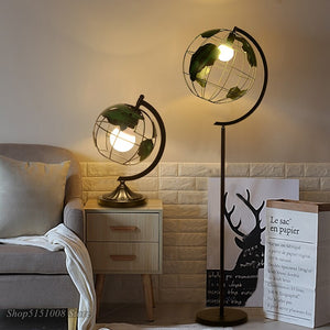 Modern Iron Table Lamp Nordic Creative LED Desk Lamp Simple Art Of Bedside Lamp Bedroom Earth Table Light Lighting Fixture Decor