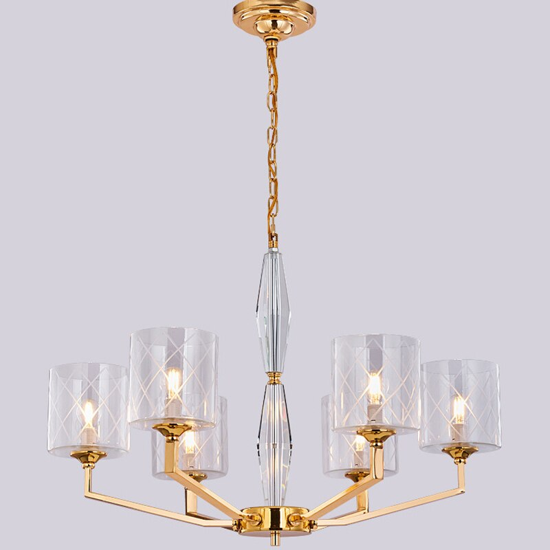 Modern LED Crystal Chandeliers Lamp Fixtures Luxury Lustre De Glass Lights Chandeliers For Living Room Bedroom Lighting