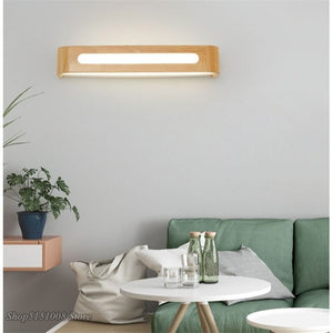 Modern LED Wall Lamp Loft Bathroom Wooden Waterproof LED Wall Lights Mirror Light Bedroom Bedside Vanity Light Lighting Fixtures