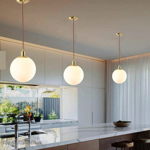 Modern Led Glass Lights Ball Pendant Lights Nordic Home Decoration Lamps For Living Room Bedroom Study Pendant Lamp Hanging Lamp