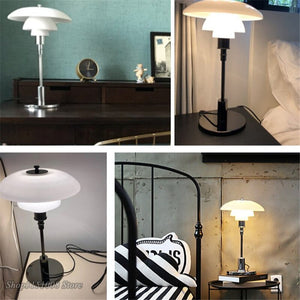 Modern Led Glass Table Lamps Nordic Living Room Bedroom Bedside Lamp Home Decor Table Light Reading Desk Lamp Lighting Fixtures