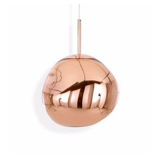 Modern Melt Lava Ball Pendant Light Creative Gold Copper Chrome Acrylic Hanging Lamps Nordic LED Acryl Suspension Light Fixture