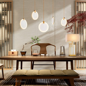 Modern Natural Marble LED Pendant Lights Nordic Dining Room Bar Coffee Pendant Lamp Hanglamp Loft Indoor Decor Lighting Fixtures