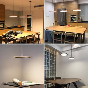 Modern Pendant Lights Danish Art Metal LED Pendant Lamps Living Room Hang Lamp Kitchen Light Fixture Indoor Luminaire Decoration