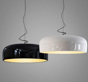 Modern Pendant Lights Glossy Black Round Hanging Lamp Kitchen Lighting Fixtures Living Room Bar Home Decor Suspendu Luminaire