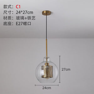 Modern Pendant Lights Led Glass Ball Hanging Lamp Nordic Dining Room Industrial Home Decor Kitchen Fixture Suspension Luminaire