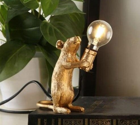 Modern SELETTI Resin Mouse Table Lamps Bedroom Bedside Lamp Led Stand Desk Light Fixtures Home Deco Art Industrial Luminaire