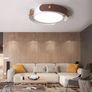 Modern Simple Ceiling Light Round LED Ceiling Lamp For Study Living Room Bedroom Nordic Cowhide Ceiling Lighting Deco Fixtures