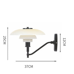 Modern Simple White Glass Single Head Wall Lamp Danish Design Living Room L Bedroom Corridor Wall Light Decor LED Light Fixtures