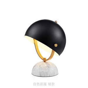 Modern Creative Table Lamp Black Lamp Shade Reading Room Living Room Bedroom Table Lamp Marble Study Room Decoration Table Lamp