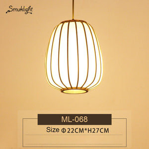 Modern Hand-woven Bamboo Chandelier Bedroom Living Room Dining Hallway Personalized Japanese Chandelier
