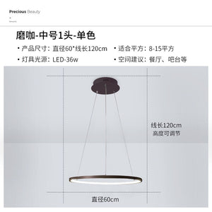 Modern Led Pendant Lights Circle Ring Pendant Lamp Luminaria Nordic For Dining Living Room Bedroom Kitchen Hanging Lamp Fixtures