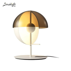 Modern Metal Glass Table Lamp Creative Glass Decoration Design Lamp Bedroom Glass Fixtures Bedside Light White Black Table Lamp