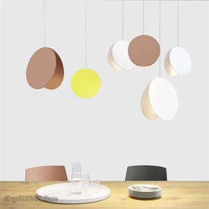 Modern Shell Pendant Lights Nordic Denmark Colored Macaron Aluminum LED Pendant Lamp Kitchen Hanging Lamps Home Decor Fixtures