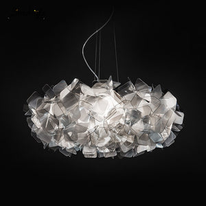 New Design CLIZIA Suspension Lamp Handcraft Gradient Acrylic Flower Led Pendant Light Bedroom Dining Room Hanging Light