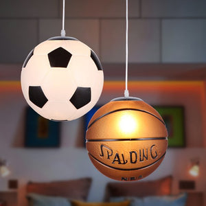 Pendant Lights Football Glass Basketball Pendant Lamp Kitchen Hanglamp Bedroom Restaurant Children Room Decor Light Fixtures