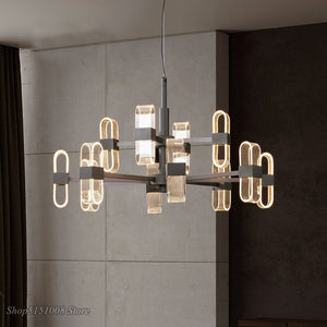 Nordic Acrylic Light Guide Plate Hanging Lamps Led Designer Pendant Lamp Modern Living Room Pendant Lights Bedroom Fixtures