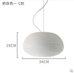 Nordic Creative Pendant Lights Milky White Glass Whorls Kitchen Hanging Lamps Luminaria Dining Living Room Home Decor Fixtures