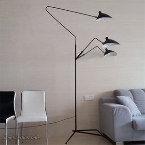 Nordic DaWn Spider Serge Mouille Floor Lamp Modeling Bedroom Industrial Standing Lamp Simple Living Room Led Floor Light Fixture