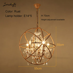 Nordic Iron Personality LED Pendant Lamp Bird Cage Bedroom Pendant Light Living Room Restaurant Retro Creative Crystal Bird Cage