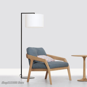 Nordic LED Floor Lamp Creative Simple Living Room Cloth Floor Light Coffee Bedside Lamp Study Fishing Lamp Home Decor Luminaire