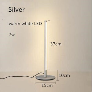 Nordic LED Table Lamp 110v 220v EUUS Plug Minimalism LED Desk Lamp Bedroom Bedside Living Room Study LED Reading Light Fixture