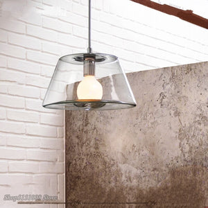 Nordic LED Pendant Lights Clear Glass Lamps Shade Crystal Pendant Lamps Volcano Pendant Lamp Restaurant Loft Bar Hotel Fixtures