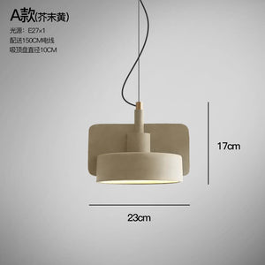 Nordic Macaron Cement Pendant Lights Industrial Retro Hanging Lamp Terrazzo Pendant Lamp Creative Dining Room Cafe Light Fixture