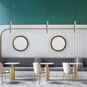 Nordic Marcle Pendant Lamps Led Gold Granilite Terrazzo Pendant Light Modern Restaurant Kitchen Hanging Lamp Home Decor Fixtures