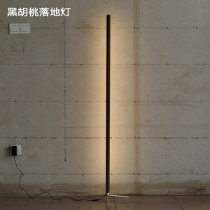Nordic Minimalist Floor Lights Modern Wooden Floor Lamp Creative Personality Led Stand Light Living Room Bedroom Decor Luminaria