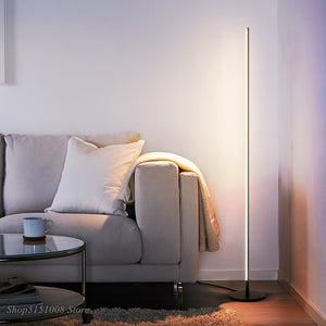 Nordic Minimalist LED Floor Lamps Modern Led Standing Lamps Living Room BlackWhite Metal Luminaria Lamparas Home Decor Fixtures