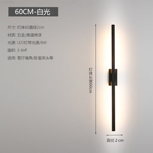 Nordic Minimalist Long Wall Lamps Modern Led Wall Light Indoor Living Room Bedroom LED Bedside Lamp Home Decor Lighting Fixtures