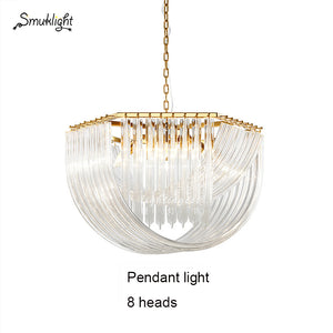 Nordic Modern Creative Chandelier Living Room Lights Minimalist Personality Designer Decorative Lights Glass Villa Lamps