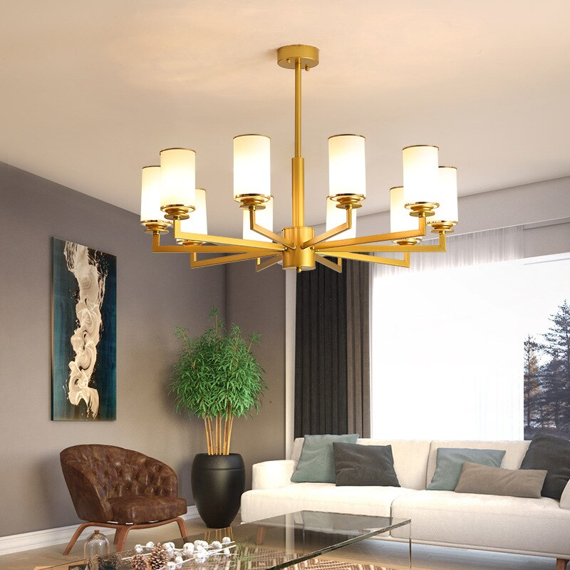 Nordic Modern Creative Chandeliers Wrought Iron Gold Plated Hanging Lights For Restaurant Living Room Lighting