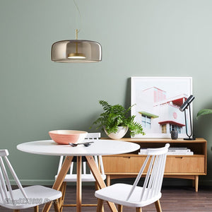 Nordic Modern Glass LED Pendant Lights Hotel Designer Hanging Lamp Bar Living Room Bedroom Model Room Pendant Lamp Decor Fixture