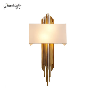 Nordic Modern Gold Wall Lamp Led Sconces Luxury Wall Lights Living Room Bedroom Bathroom Home Indoor Lighting Fixture Decor