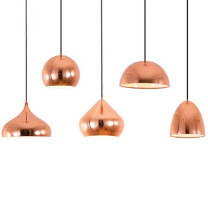 Nordic Modern Rose Gold Pated Pendant Light Creative Pendant Lamp Dining Room Bedroom Living Room Home Iron Led Lamps